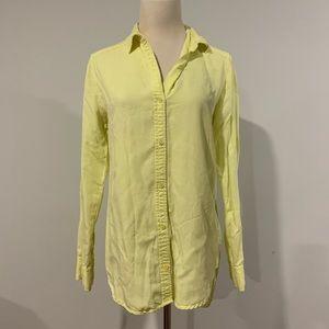 Aritzia Wilfred Free Neon Button Up Shirt